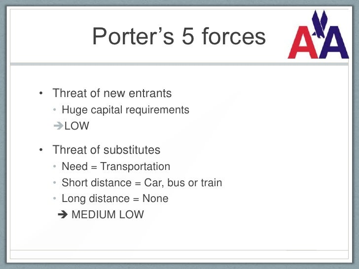 porter s 5 forces for air asia Customer has little brand loyalty if consumers of air asia do not have brand loyalty, then the strength of the threat of new entrants is very high.