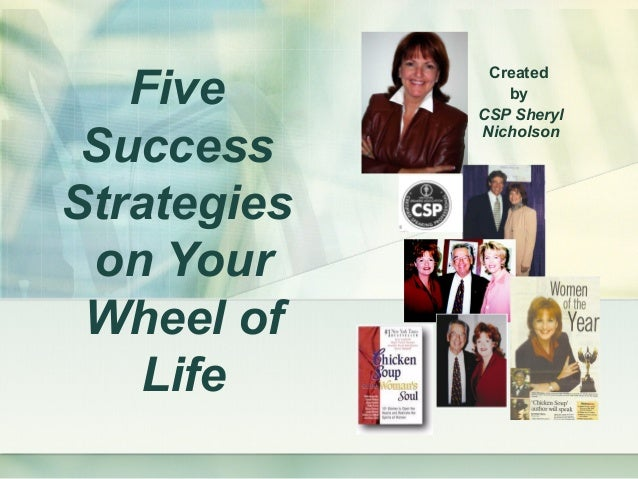 Five Success Strategies on Your Wheel of Life Created by CSP Sheryl Nicholson