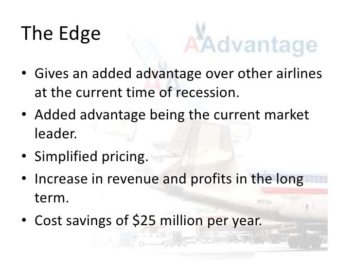 american airlines value pricing case Causes and consequences of airline fare wars  is to specify a base-case definition of a fare war and subject  american airlines' value pricing plan, .