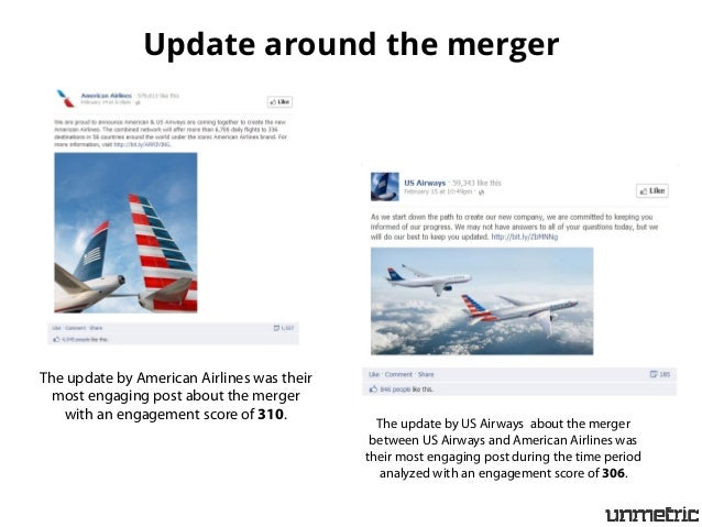 merger between american airlines and us Despite the hopes of some that the merger between american airlines and us airways would be denied, the company increased their lobbying and was successful in overturning their injunction to merge2.