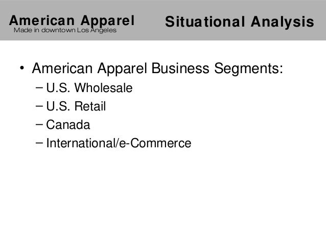 swot for american apparel Swot for american apparel drowning in debt is a powerful tool of analysis as it provide a thought to uncover and exploit the opportunities that can be used to.