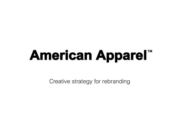 Creative strategy for rebranding