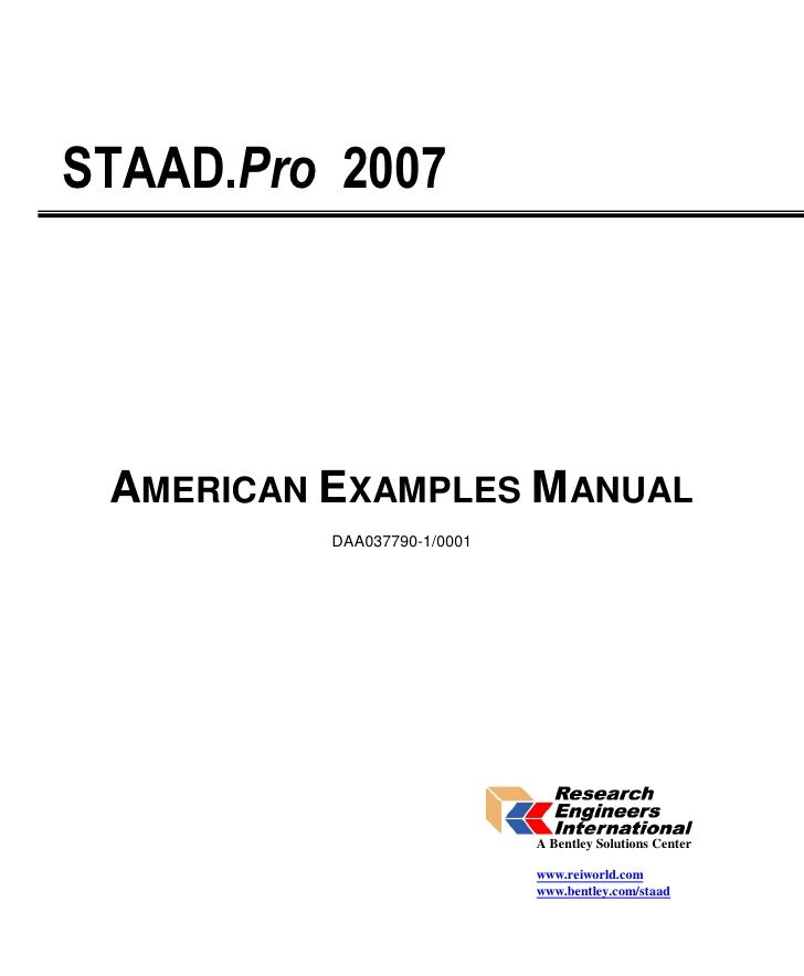 american app examples 2007 complete rh slideshare net Technical Reference Guide staad/pro (v8i) technical reference manual pages--18 through 29
