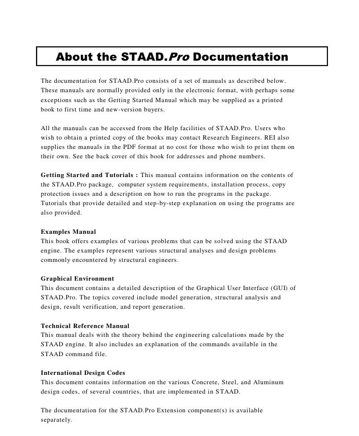 Staad pro example manual array american app examples 2007 complete rh slideshare net fandeluxe Image collections