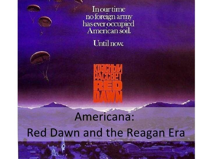 Americana:  Red Dawn and the Reagan Era