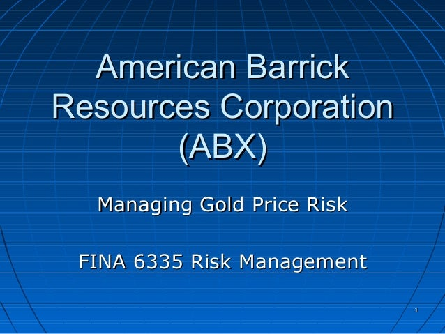 American Barrick Resources Corp.: Managing Gold Price Risk HBS Case Analysis
