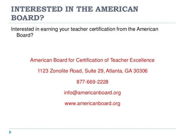 American Board Teacher Certification