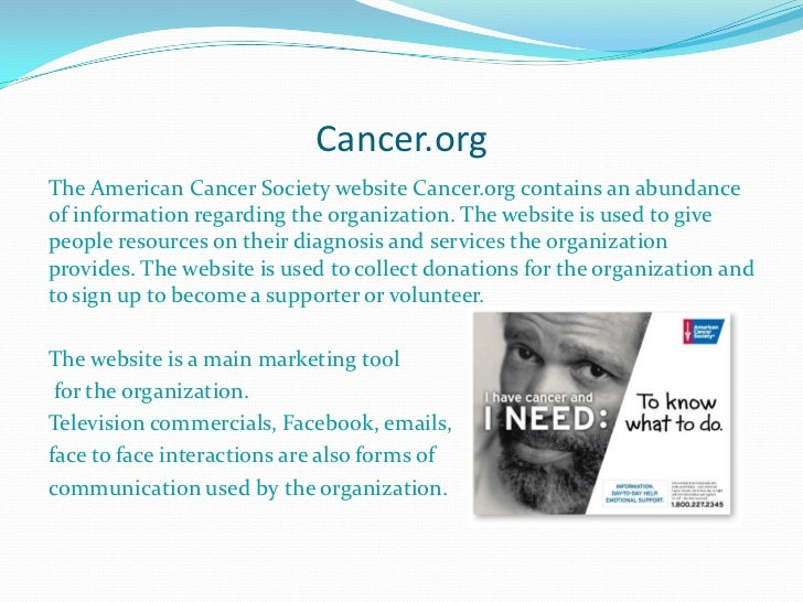 american cancer society website Join me in supporting the american cancer society no other organization is doing more to finish the fight against cancer check out some of the great work they're doing.