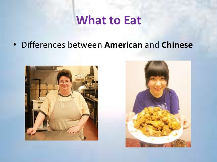 the differences between chinese and american Differences between chinese and american culture essays we might think that chinese and americans are totally different people not only the way they look different.