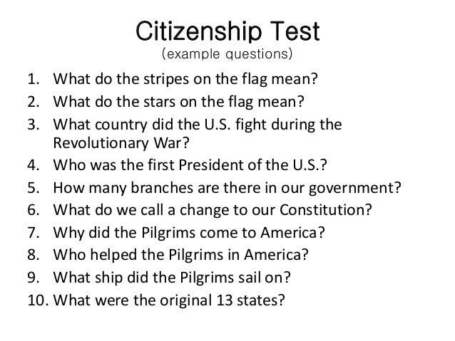 Citizenship Test: Citizenship Questions Online