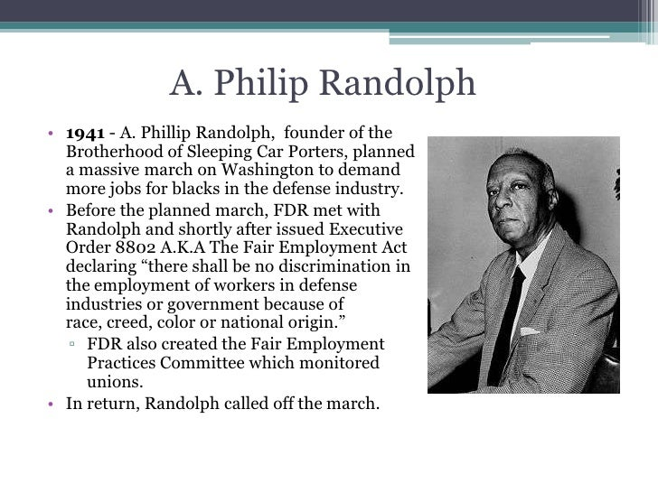 the life and contributions of phillip randolph to the civil rights movement Civil rights activist from the 1930's to the end of her life she worked with philip randolph , bayard rustin and martin luther king in the civil rights movement but became critical of the male domination of the leadership within the movement.