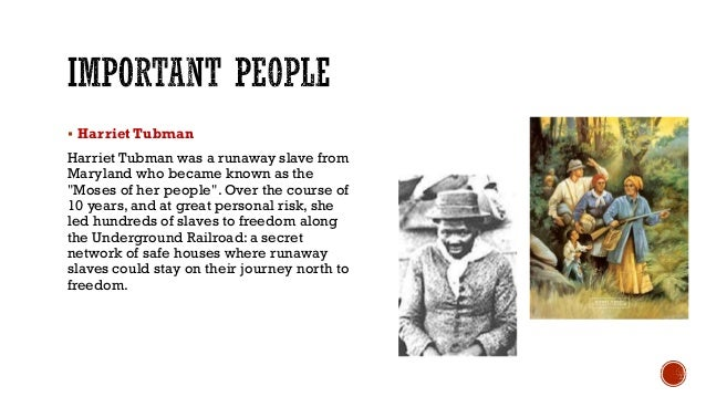 """ Harriet Tubman Harriet Tubman was a runaway slave from Maryland who became known as the """"Moses of her people"""". Over the ..."""
