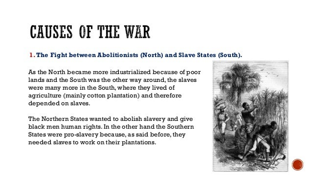 differences between the north and south before the civil war powerpoint