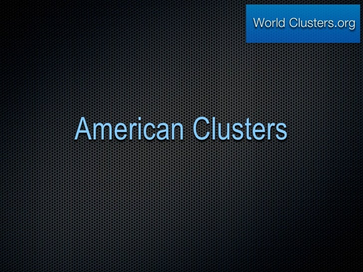 World Clusters.org     American Clusters