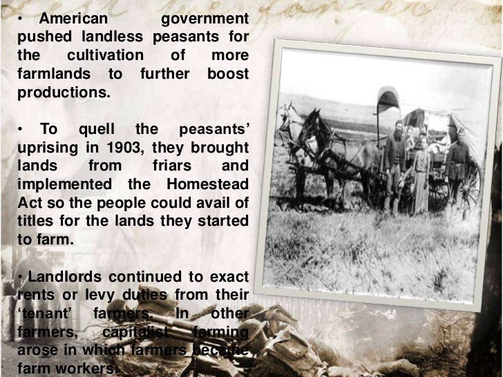The Military Government• The American troops went to a war towards  establishing the military government in August 1898  i...