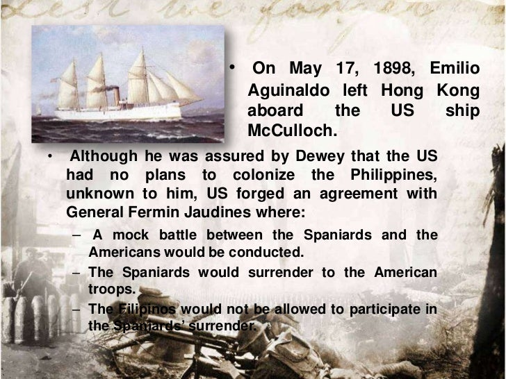 • It began on August 13,  1897 at around 9:30 am  by the bombing of  Olympia in Fort San  Antonio Abad.• After an hour, Ge...