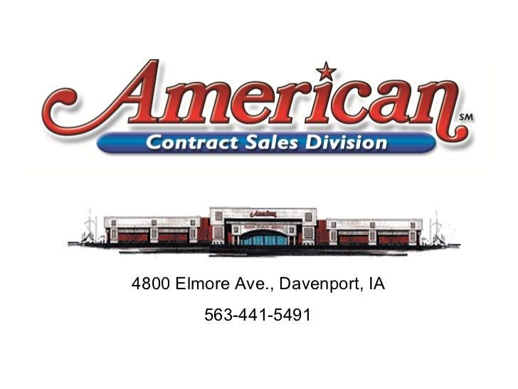 4800 Elmore Ave., Davenport, IA  563-441-5491
