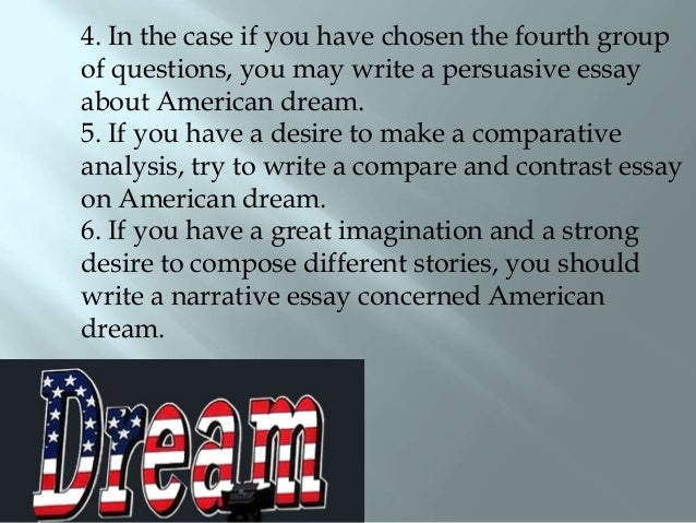 Achieving the american dream essay