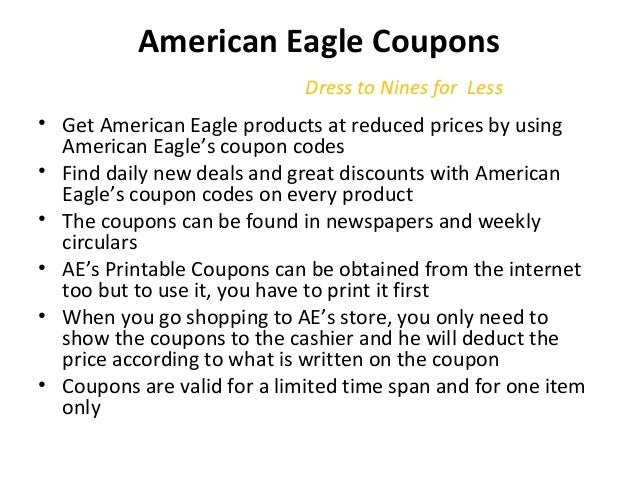 graphic about American Eagle Coupons Printable named American Eagle Printable Coupon