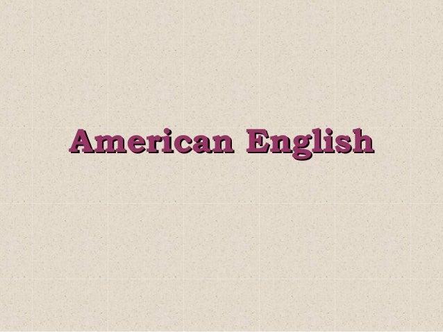 Аmerican English