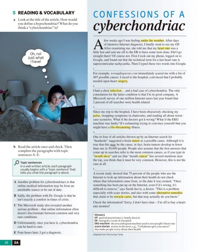 cyberchondriacs the internets medicalization of hypochondriacs essay The ambiguity of pain uploaded by s fink connect to download get pdf the ambiguity of pain download the ambiguity of pain uploaded by s fink.