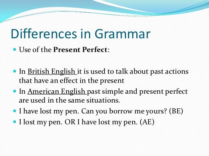 American english vs british english 1