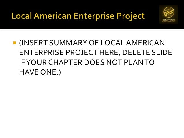 what is the purpose of american enterprise day