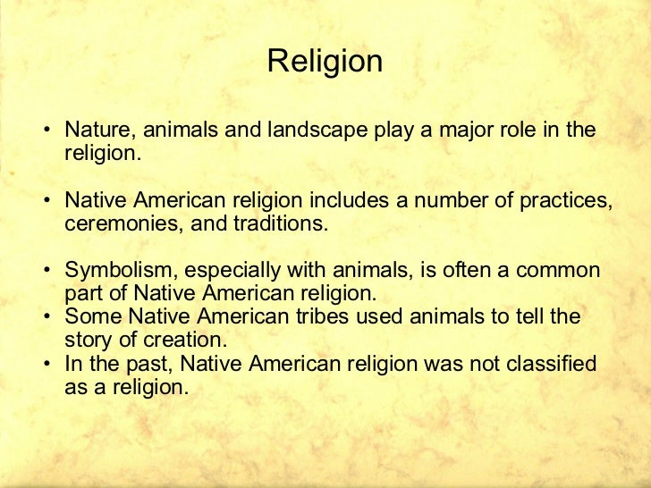 American Etnies And Their Religions - Native american religion