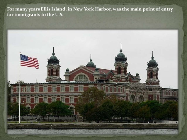 Ellis Island Immigrants Lived There