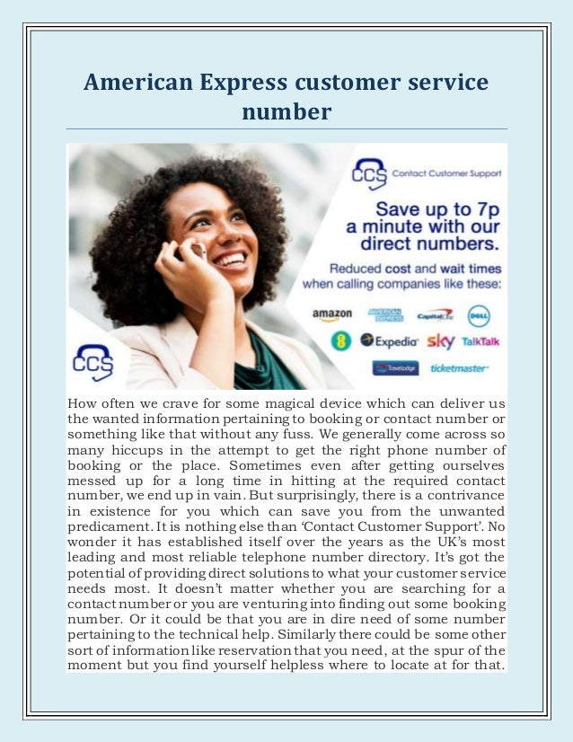American express customer service number