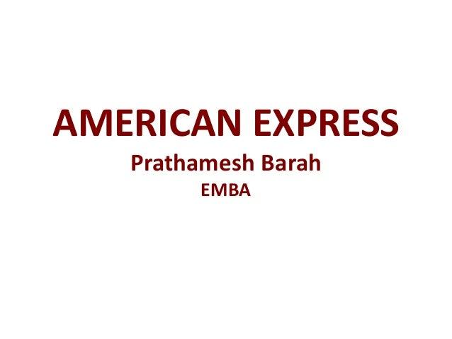 AMERICAN EXPRESS Prathamesh Barah EMBA