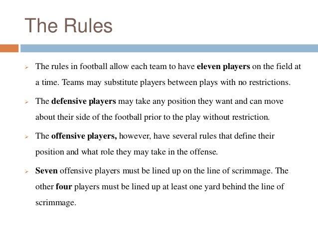 american football regulations
