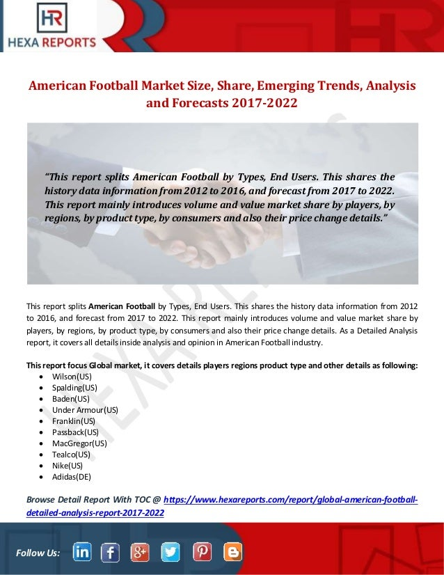 American football market size, share, emerging trends