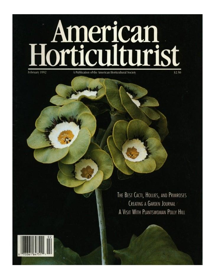 American Horticulturist Magazine 1992
