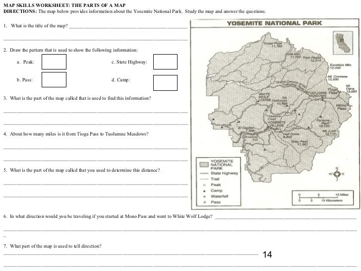 Worksheets Parts Of A Map Worksheet parts of a map worksheet