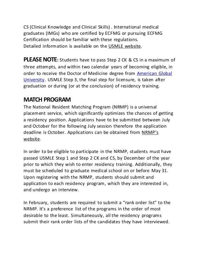 American Global University School Residency Program