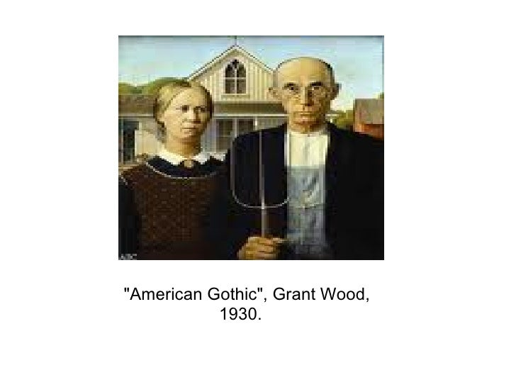 American Gothic Grant Wood 1930