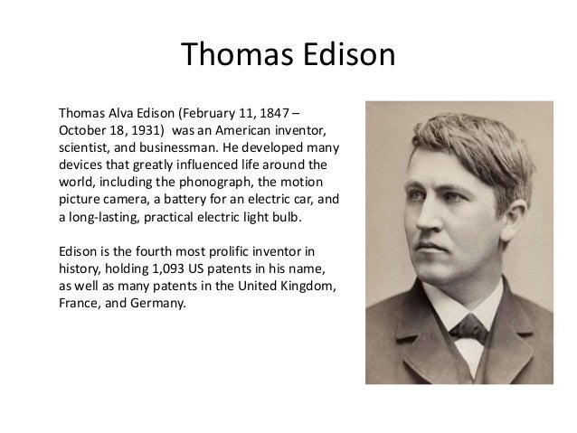 an introduction to the life of thomas alva edison the most famous inventor in american history Learn about the famous inventor thomas alva edison who was thomas edison upgrade to premium to enroll in post-civil war american history.