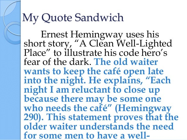 Quotation Sandwich Examples Choice Image Example Cover Letter For