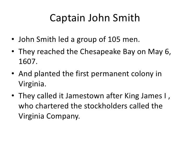 A comparison on the contribution of captain john smith and john rolfe