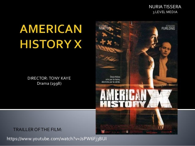 a review of the film american history x Well, i'm back and getting right back into things with the next film on our countdown, american history x is this film deserving of its placement, or is.
