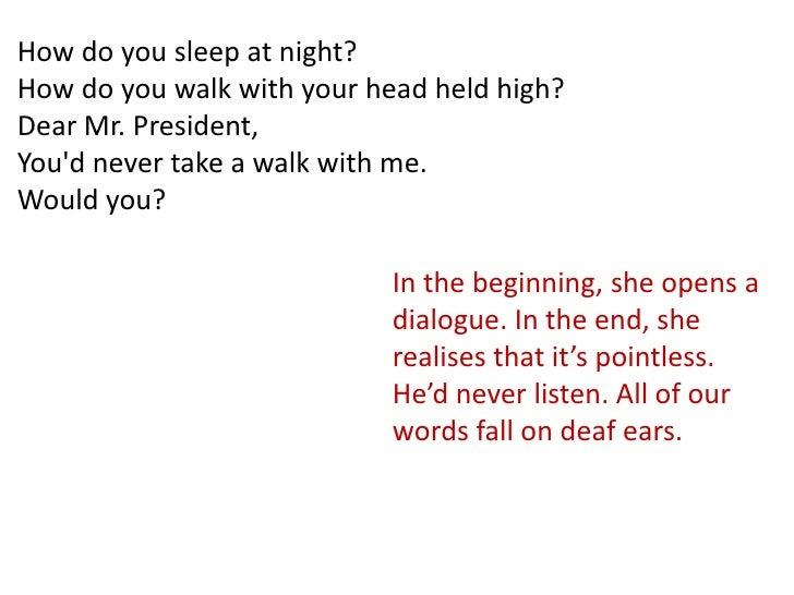 dear mr president song