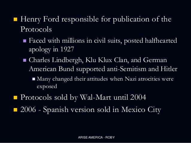 henry ford and antisentinism Henry ford and anti-semitism after watching the video of henry ford, i realized how little i knew about his beliefs and my view of him will never be the same.