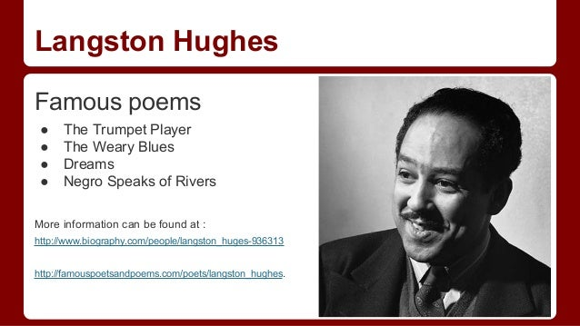 the collected works of langston hughes The collected works of langston hughes (18 volumes), university of missouri press, 2001, 2002 hughes, langston, the big sea: an autobiography, knopf, 1940.