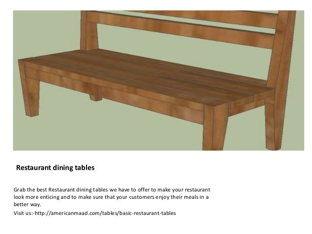 Restaurant Dining Tables ...