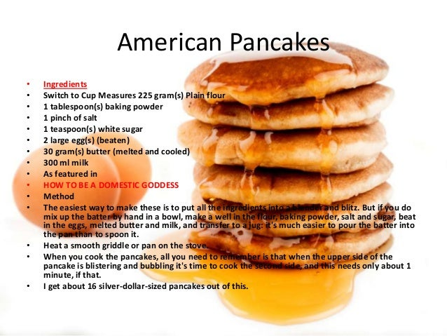 American pancakes Recipe American Pancakes Recept