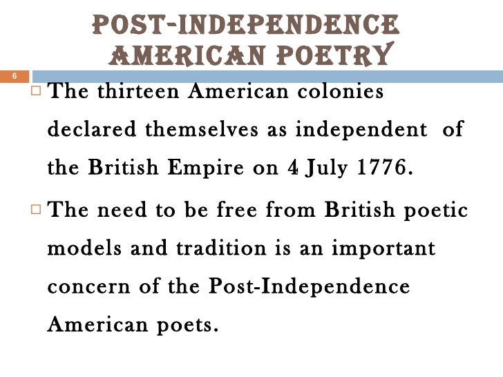 an introduction to the history of american poetry Introduction a shift away from an assumption that traditional forms, ideas, and history can provide meaning and continuity to human life has occurred in the.