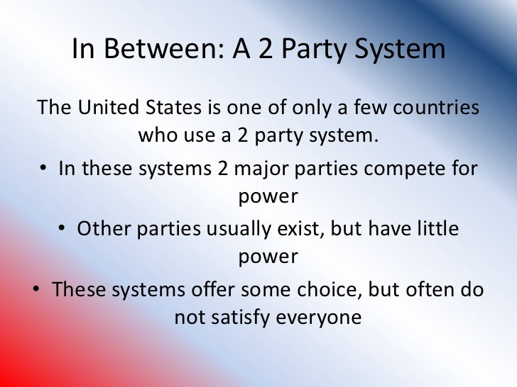 "a discussion on the political competition between the two major american parties ""i think it would be a great tragedy if we had our two major political parties political-parties, political between political parties."