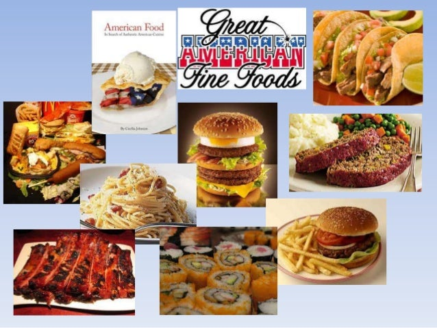 American pop culture for American cuisine presentation