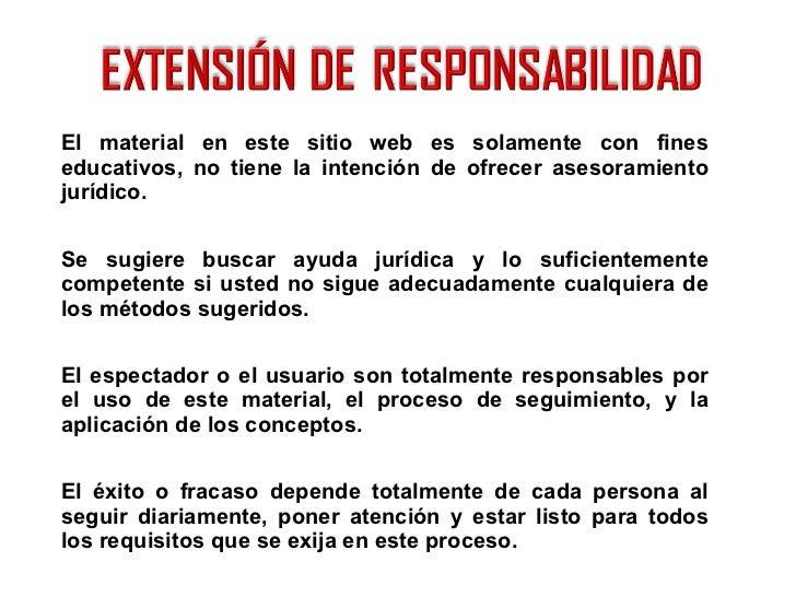 <ul><li>El material en este sitio web es solamente con fines educativos, no tiene la intención de ofrecer asesoramiento ju...